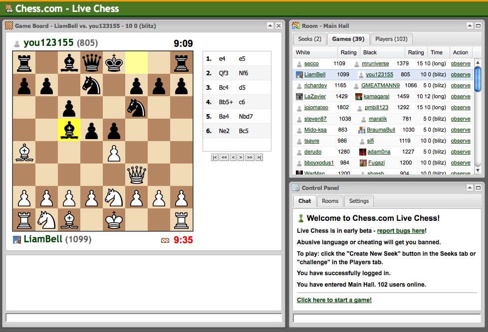 Live Chess with Comet | Vinay's Blog
